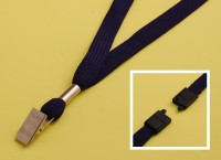 LYD-BCC Lanyard - Breakaway Connector - Strong Bull-Dog Clip