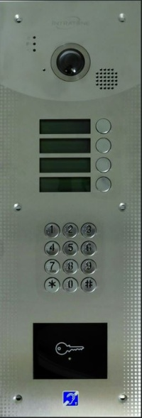 Video intercom with name buttons - Flush