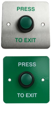 SR1-REX-ST03 Series Stainless Steel Backplate With Green Plastic Push-Button