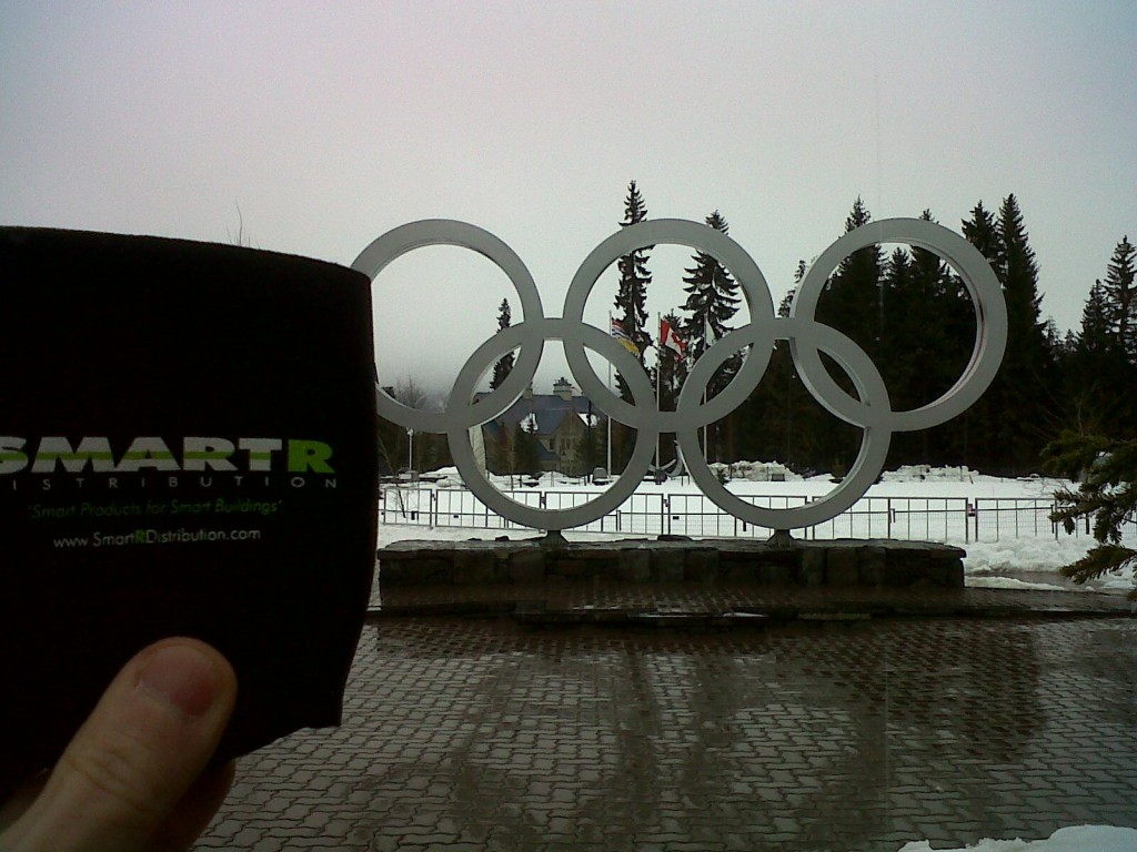 Smartr koozie at whistler canada